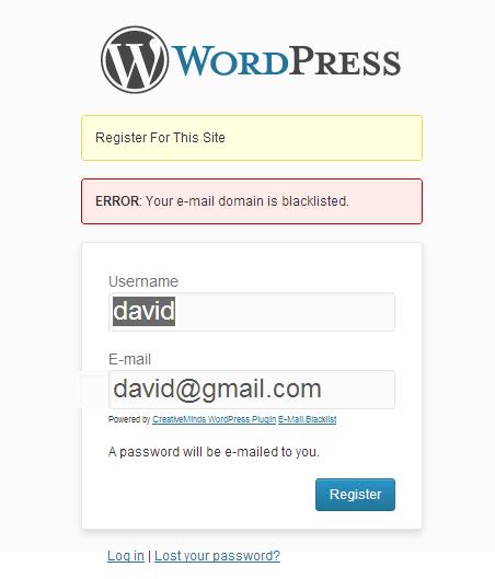 Email Blacklist Plugin
