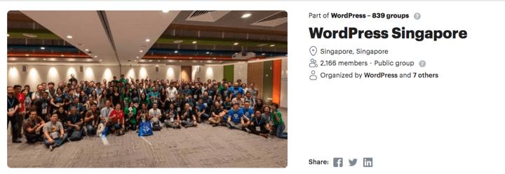 WPSingapore - Top 10 WordPress Communities Around the World To Share Knowledge