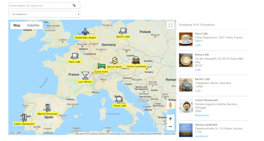 Locations Manager Plugin - Show Amazing Maps and Routes With These Adventurous WordPress Plugins