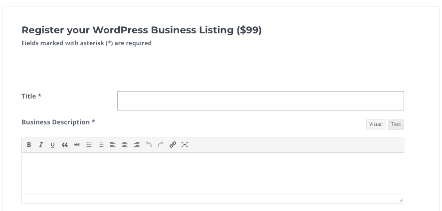 Submission Form - 6 Tips For The Perfect WordPress Business Directory